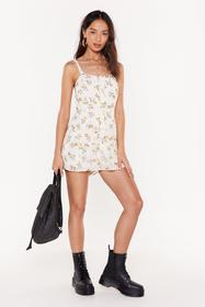 Nasty Gal Womens White Flower Over Me Button-Down