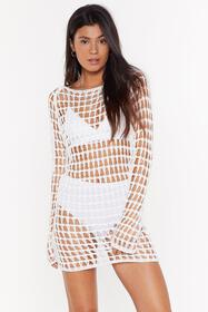 Nasty Gal Womens White Hole With the Punches Croch