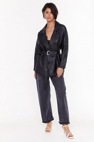 Nasty Gal Womens Black Never Say Leather Faux Leat