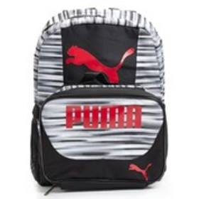 PUMA Boys Logo Graphic Stripe Block Backpack with