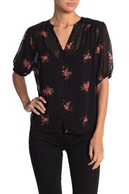Lucky Brand Floral Button Down Blouse