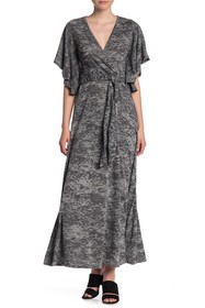 Go Couture Bell Sleeve Knit Maxi Dress