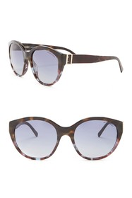 Burberry 55mm Round Sunglasses