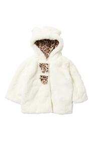 Jessica Simpson Faux Fur Hooded Jacket (Baby Girls