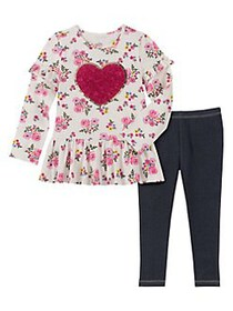 Kids Headquarters Baby Girl's 2-Piece Floral Cotto