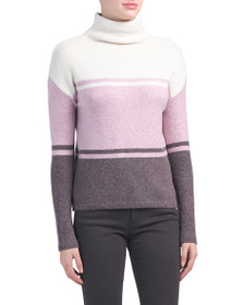 C&C CALIFORNIA Funnel Neck Striped Sweater
