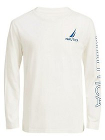 Nautica Boy's Tyrese Graphic Logo Cotton Tee CREAM
