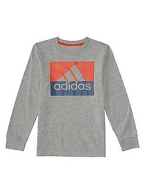 Adidas Little Boy's Long-Sleeve Heather Block BOS