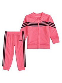 Adidas Little Girl's 2-Piece Linear Tricot Jacket