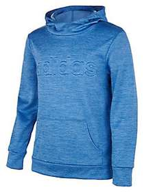 Adidas Little Girl's Emboss Hoodie BLUE