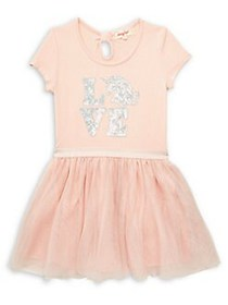 Btween Little Girl's Love Unicorn Tutu Dress BLUSH