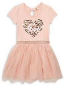 Btween Little Girl's Love Heart Tutu Dress BLUSH