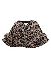 Iris & Ivy Little Girl's Cheetah-Print Faux Fur Bo