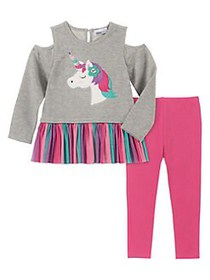 Kids Headquarters Little Girl's 2-Piece Unicorn-Pr