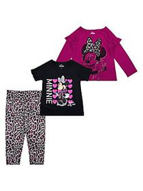 Nannette Little Girl's Minnie Mouse 3-Piece Cotton