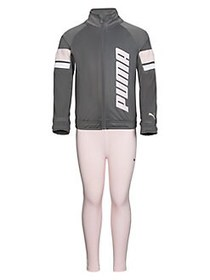 PUMA Little Girl's Tricot Track Jacket & Legging S