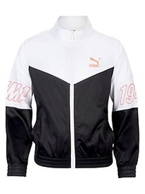 PUMA Girl's Colorblock Tricot Jacket PUMA BLACK