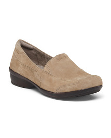 NATURALIZER Wide Suede Comfort Slip On Loafers