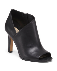VINCE CAMUTO Peep Toe Asymmetrical Leather Shootie