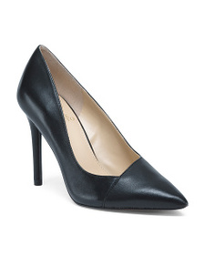 VINCE CAMUTO Pointy Toe Leather Pumps