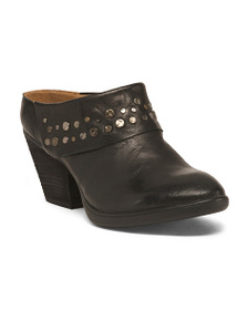 SOFFT Studded Leather Clogs
