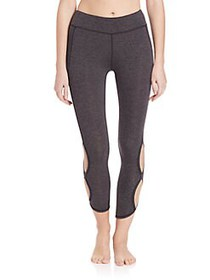 Free People Infinity Cutout Crop Leggings CHARCOAL