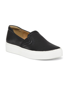 NATURALIZER Leather Slip On Sneakers