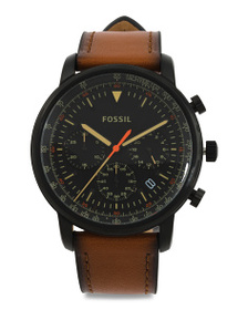 FOSSIL Men's Chrono Goodwin Leather Strap Watch