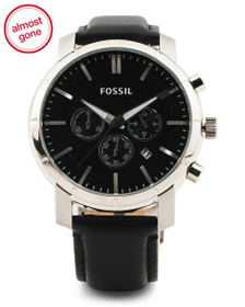 FOSSIL Men's Chrono Lance Leather Strap Watch