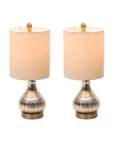 STYLECRAFT Set Of Two Antique Glass Lamps