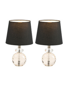 STYLECRAFT Set Of Two Mini Crystal Lamps