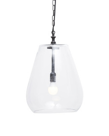 CLASSIC HOME Oversized Entry Way Glass Pendant