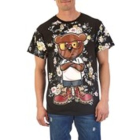 FRESH LAUNDRY Mens Floral Print Bear Graphic Short