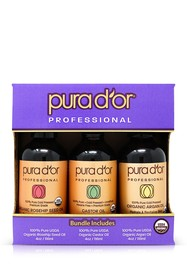 PURA D'OR 100% Organic 3-Piece Argan Oil