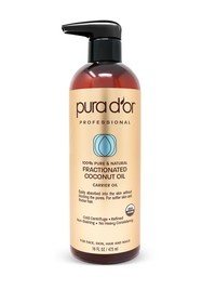 PURA D'OR 100% Organic Fractionated Coconut Oil
