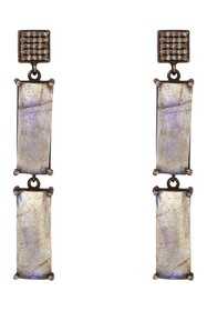 ADORNIA Labradorite & Diamond Drop Earrings