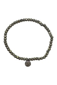 ADORNIA Organic Cut Pyrite & Diamond Stretch Brace
