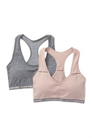 Lucky Brand Seamless Racer Back Bra - Pack of 2