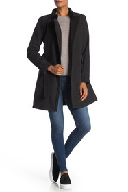Kenneth Cole New York Asymmetrical Zip Belted Coat