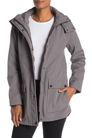 Kenneth Cole New York Removable Hooded High/Low He