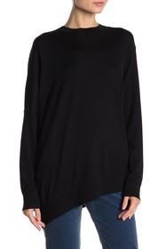 Theory Merino Wool Asymmetrical Sweater
