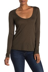 Velvet by Graham & Spencer Lilo Scoop Neck Long Sl