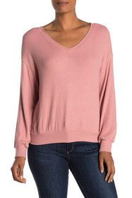 Velvet by Graham & Spencer Parca Cozy V-Neck Rib K