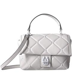 Betsey Johnson White Out Mini Suit Bag