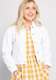 BB Dakota BB Dakota Obvious Add Denim Jacket White