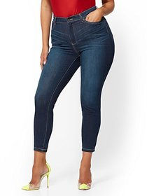 Super High-Waisted No-Gap Super-Skinny Ankle Jeans