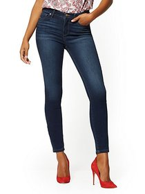 High-Waisted Super-Skinny Jeans - Blueberry - New