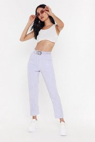 Nasty Gal Womens Lilac Cord Suit Trousers