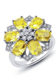 LaFonn Platinum Plated Sterling Silver Yellow & Wh