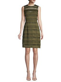Elie Tahari Renee Crochet Sheath Dress THYME